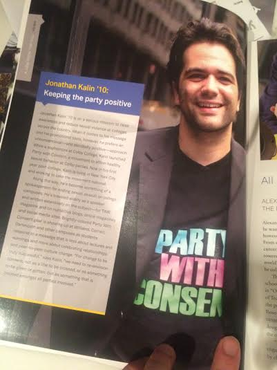 Party With Consent featured in Trinity-Pawling School Alumni Magazine